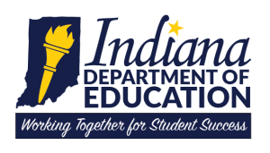 Logo for the Department of Education in Indiana.